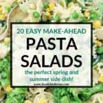 pinterest image for make ahead pasta salad recipes
