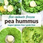 pinterest image for pea hummus