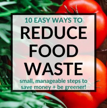 pinterest image for how to reduce food waste