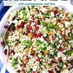 Pinterest image for Egyptian Barley Salad.
