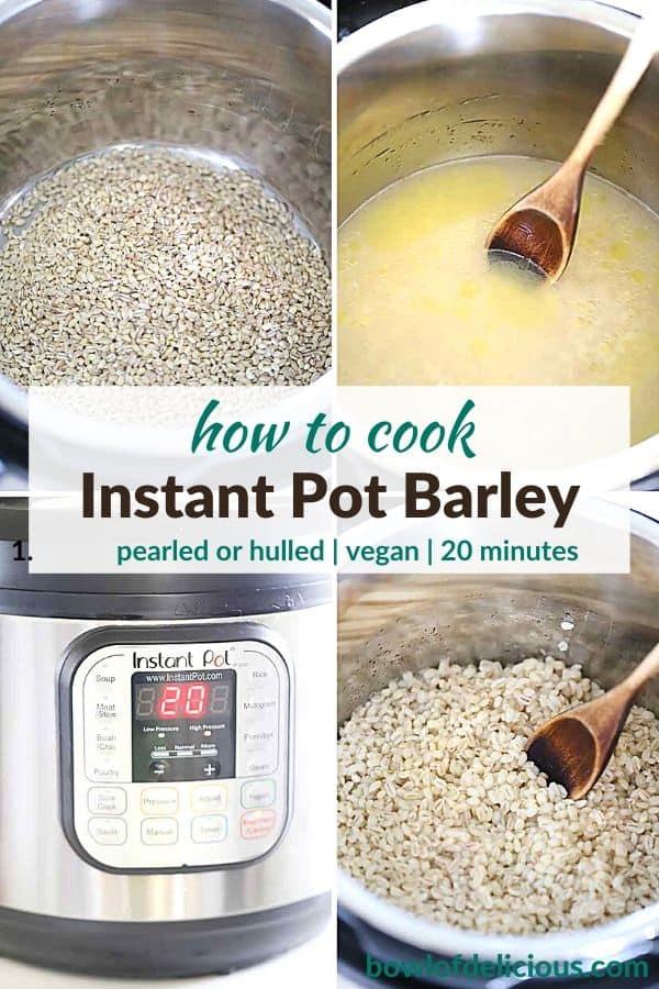 Pinterest image for Instant Pot Barley.