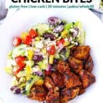Pinterest image for Greek Chicken Bites.