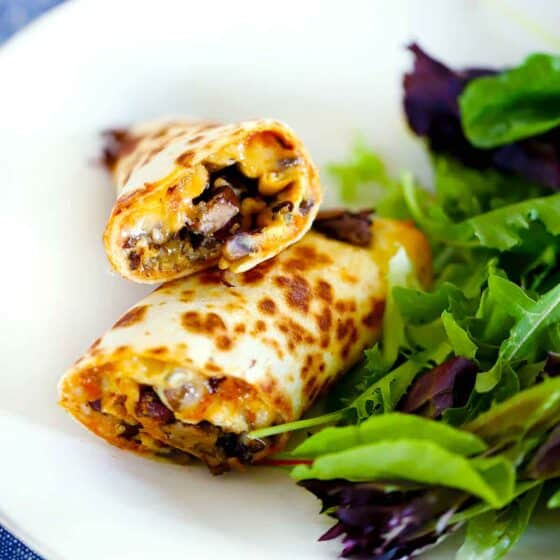 Tortilla Egg Wraps with Mushrooms and Olives