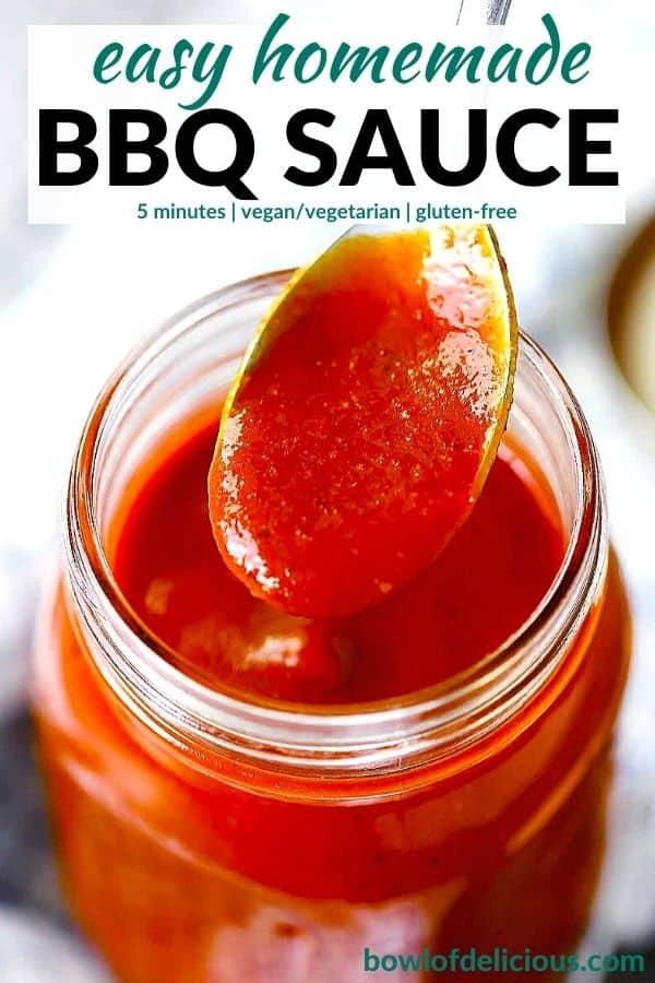Pinterest image for homemade BBQ sauce.