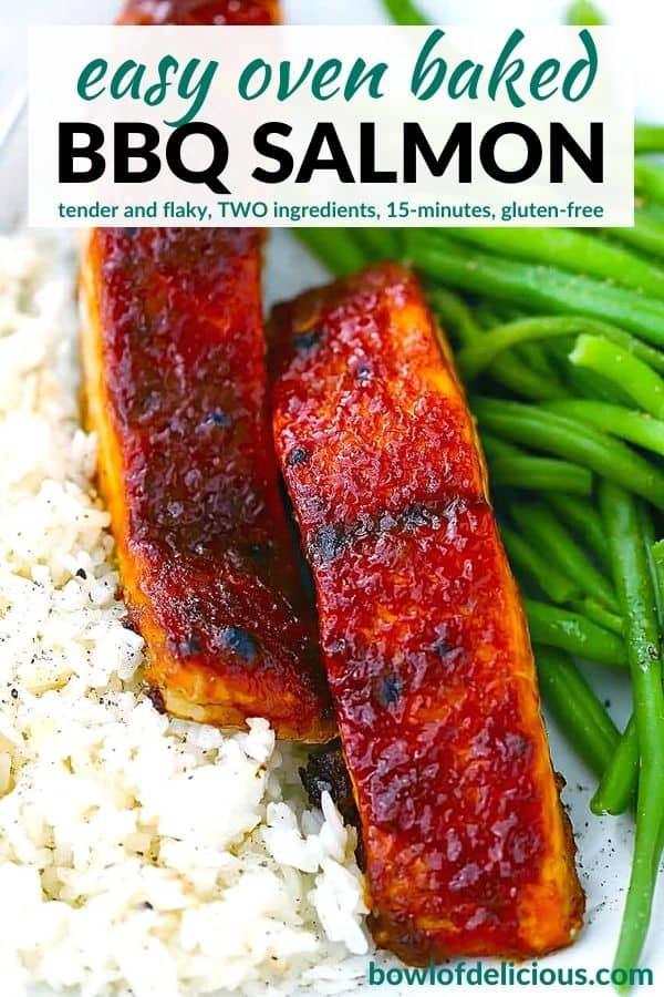 Pinterest image for bbq salmon.