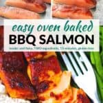 Pinterest image for bbq salmon.