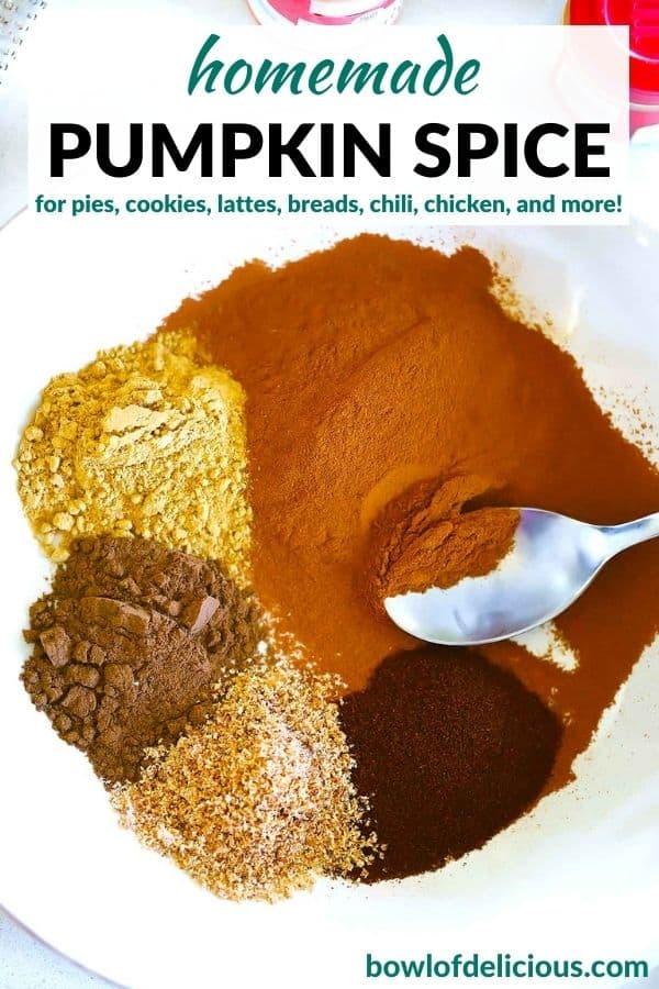 Pinterest image for pumpkin spice mix.