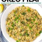 Pinterest image for Orzo Pilaf.