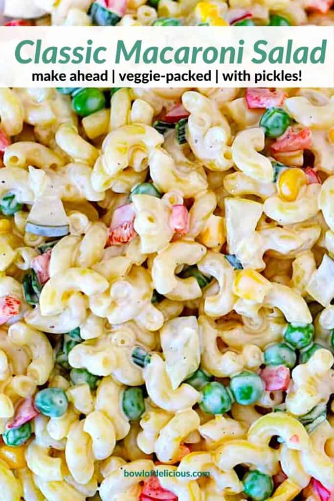 Pinterest Image for Macaroni Salad